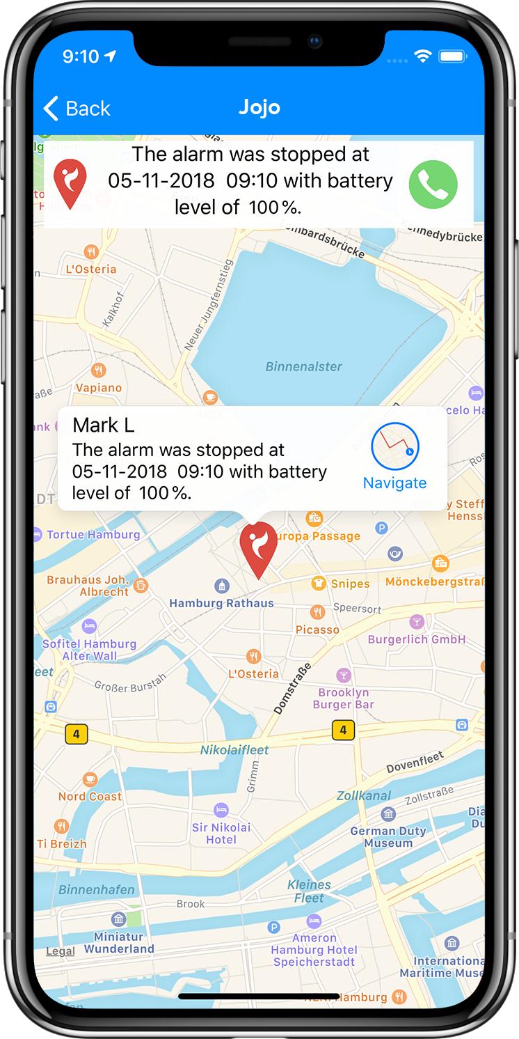 Screenshot Navigation ProtectMii
