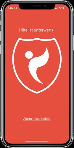 Screenshot Alarm Bildschirm ProtectMii